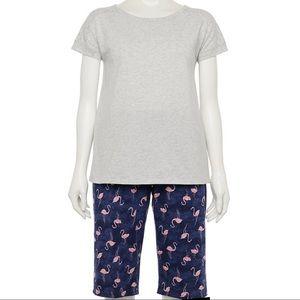 💐SALE💐 Women's XXL Navy Flamingo Pajama Set